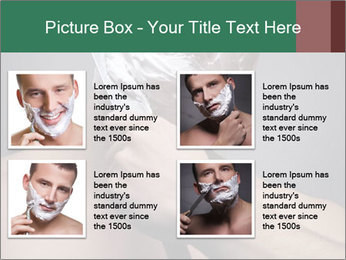 Man Shaving with Knife PowerPoint Template - Slide 14
