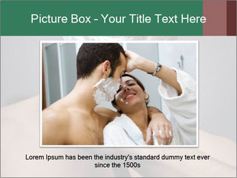 Man Shaving with Knife PowerPoint Template - Slide 16