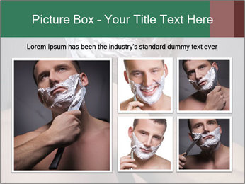 Man Shaving with Knife PowerPoint Template - Slide 19