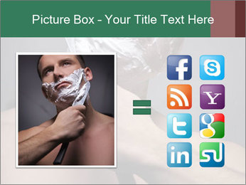 Man Shaving with Knife PowerPoint Template - Slide 21