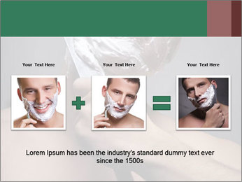 Man Shaving with Knife PowerPoint Template - Slide 22