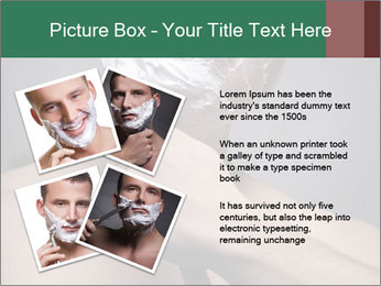 Man Shaving with Knife PowerPoint Template - Slide 23