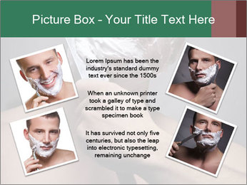 Man Shaving with Knife PowerPoint Template - Slide 24