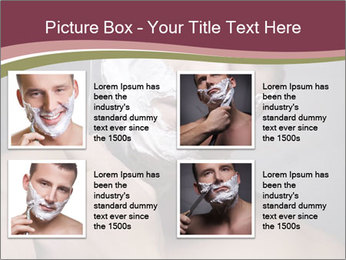 Man Shaving his Face PowerPoint Templates - Slide 14