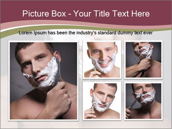 Man Shaving his Face PowerPoint Templates - Slide 19