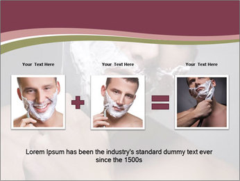 Man Shaving his Face PowerPoint Templates - Slide 22
