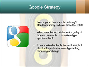 Woman Holding Stereo System PowerPoint Template - Slide 10