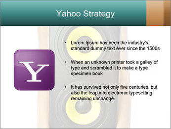 Woman Holding Stereo System PowerPoint Template - Slide 11