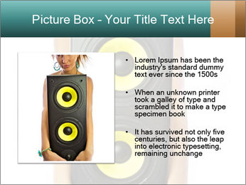 Woman Holding Stereo System PowerPoint Template - Slide 13