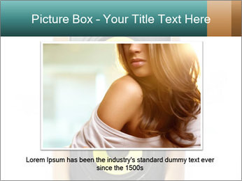 Woman Holding Stereo System PowerPoint Template - Slide 15