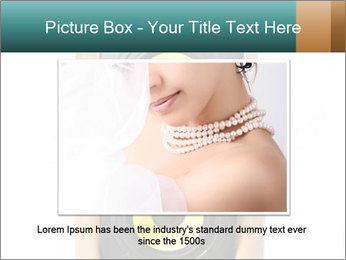 Woman Holding Stereo System PowerPoint Template - Slide 16