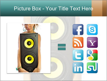 Woman Holding Stereo System PowerPoint Template - Slide 21