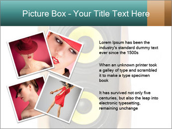 Woman Holding Stereo System PowerPoint Template - Slide 23
