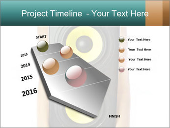 Woman Holding Stereo System PowerPoint Template - Slide 26