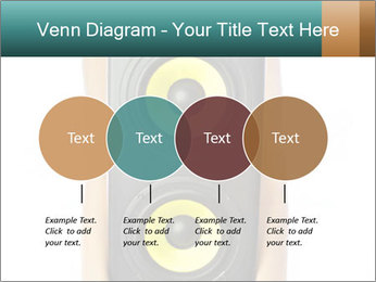 Woman Holding Stereo System PowerPoint Template - Slide 32