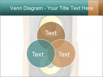 Woman Holding Stereo System PowerPoint Template - Slide 33