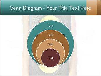 Woman Holding Stereo System PowerPoint Template - Slide 34