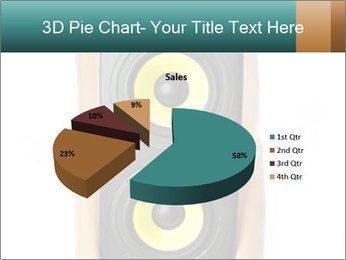 Woman Holding Stereo System PowerPoint Template - Slide 35
