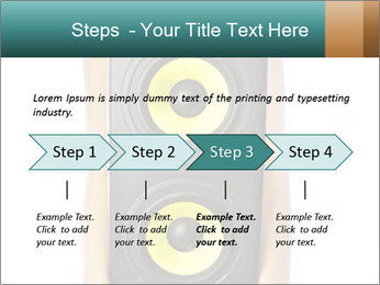 Woman Holding Stereo System PowerPoint Template - Slide 4