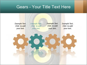 Woman Holding Stereo System PowerPoint Template - Slide 48