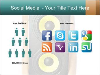 Woman Holding Stereo System PowerPoint Template - Slide 5