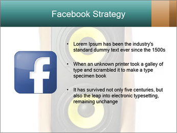 Woman Holding Stereo System PowerPoint Template - Slide 6