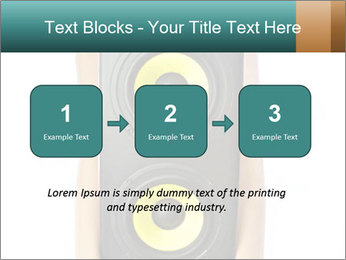 Woman Holding Stereo System PowerPoint Template - Slide 71