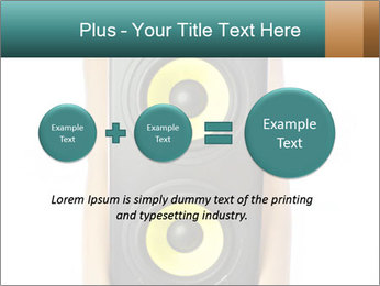 Woman Holding Stereo System PowerPoint Template - Slide 75