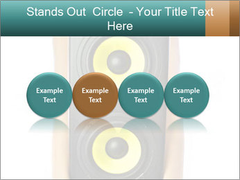 Woman Holding Stereo System PowerPoint Template - Slide 76