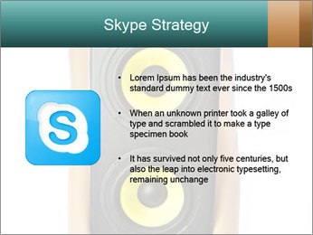 Woman Holding Stereo System PowerPoint Template - Slide 8