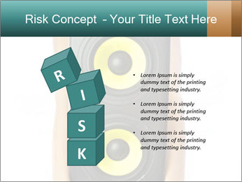 Woman Holding Stereo System PowerPoint Template - Slide 81