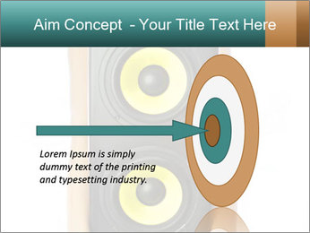 Woman Holding Stereo System PowerPoint Template - Slide 83