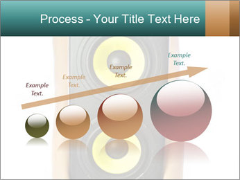 Woman Holding Stereo System PowerPoint Template - Slide 87