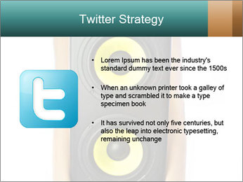 Woman Holding Stereo System PowerPoint Template - Slide 9