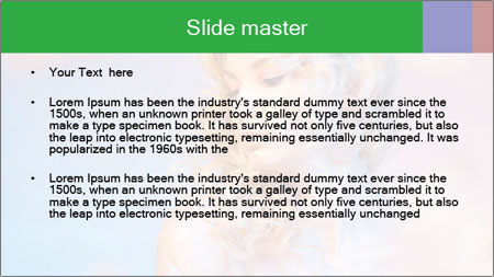 Shy Bloody Lady PowerPoint Template - Slide 2