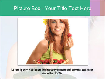 Blond Woman and Pink Rose PowerPoint Template - Slide 16