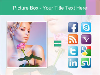Blond Woman and Pink Rose PowerPoint Template - Slide 21