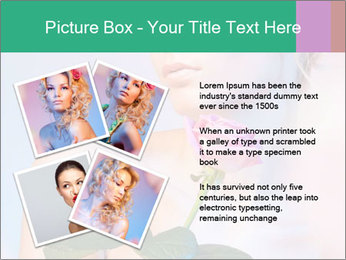 Blond Woman and Pink Rose PowerPoint Template - Slide 23