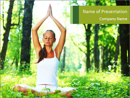 Meditation in the Forest PowerPoint Template