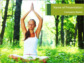 Meditation in the Forest PowerPoint Template - Slide 1