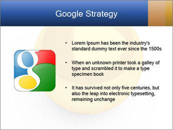 3D Yellow Bowling Ball PowerPoint Template - Slide 10
