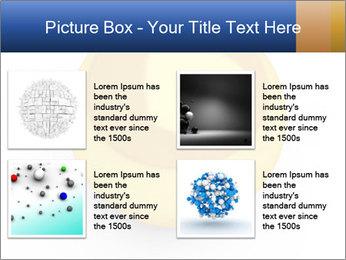 3D Yellow Bowling Ball PowerPoint Template - Slide 14