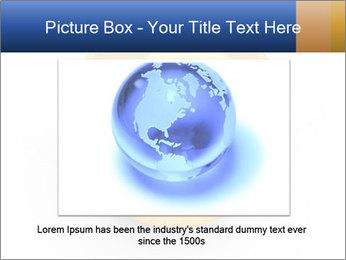 3D Yellow Bowling Ball PowerPoint Template - Slide 15