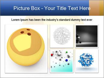 3D Yellow Bowling Ball PowerPoint Template - Slide 19