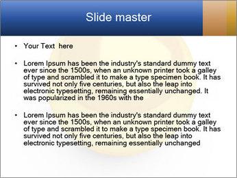 3D Yellow Bowling Ball PowerPoint Template - Slide 2