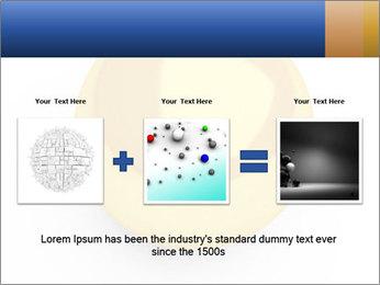 3D Yellow Bowling Ball PowerPoint Template - Slide 22