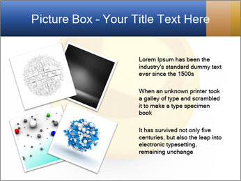3D Yellow Bowling Ball PowerPoint Template - Slide 23