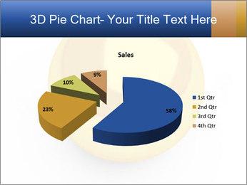 3D Yellow Bowling Ball PowerPoint Template - Slide 35