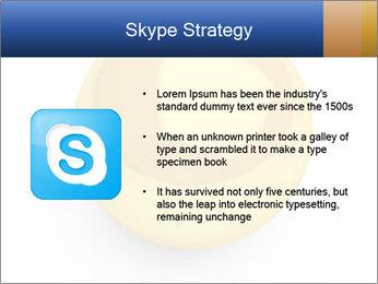 3D Yellow Bowling Ball PowerPoint Template - Slide 8