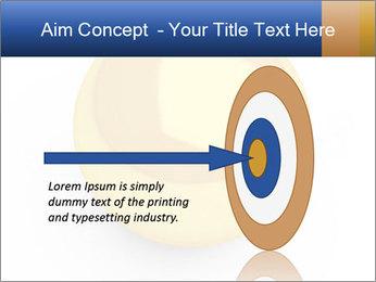 3D Yellow Bowling Ball PowerPoint Template - Slide 83